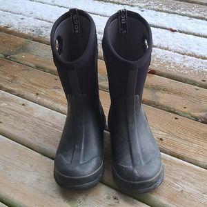 Bogs boys black waterproof winter boots